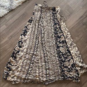 Flowy print skirt